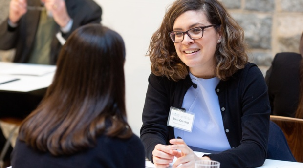AUWCL intellectual property alumni meet with students at career coaching event