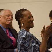 Professor Cynthia Jones and conference participants