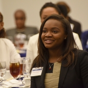 2l Tiana Cherry Who Presented The Blessing Listening To Speeches American University Washington College Of Law