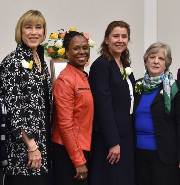 Women and the Law Program Staff with Dean Nelson and Leadership Award Recipients