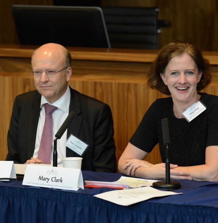 CJEU President Lenaerts with AU Dean of Academic Affairs Mary Clark
