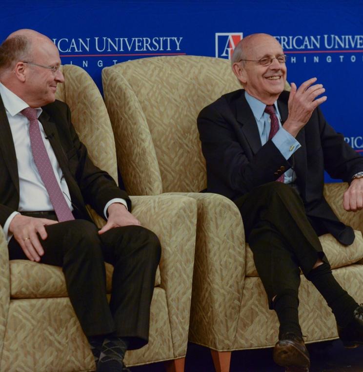 CJEU President Koen Lenaerts and Associate Justice Stephen Breyer.