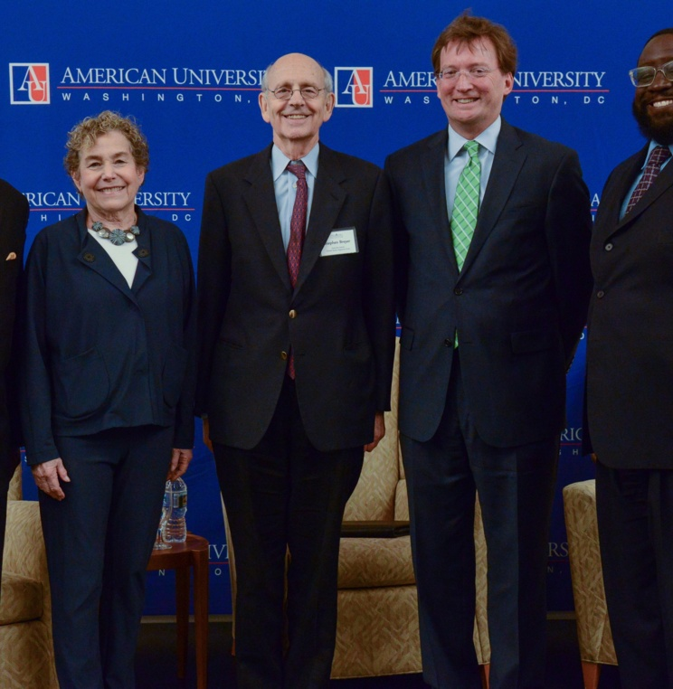 Hon. Reggie Walton '74, Hon. Irma Raker '72, Justice Breyer, Hon. Michael O'Keefe, and Zuberi Williams '03.
