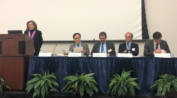 "Professor Padideh Ala'i moderated the opening panel, ""Trade Outlook: The View from Governments."