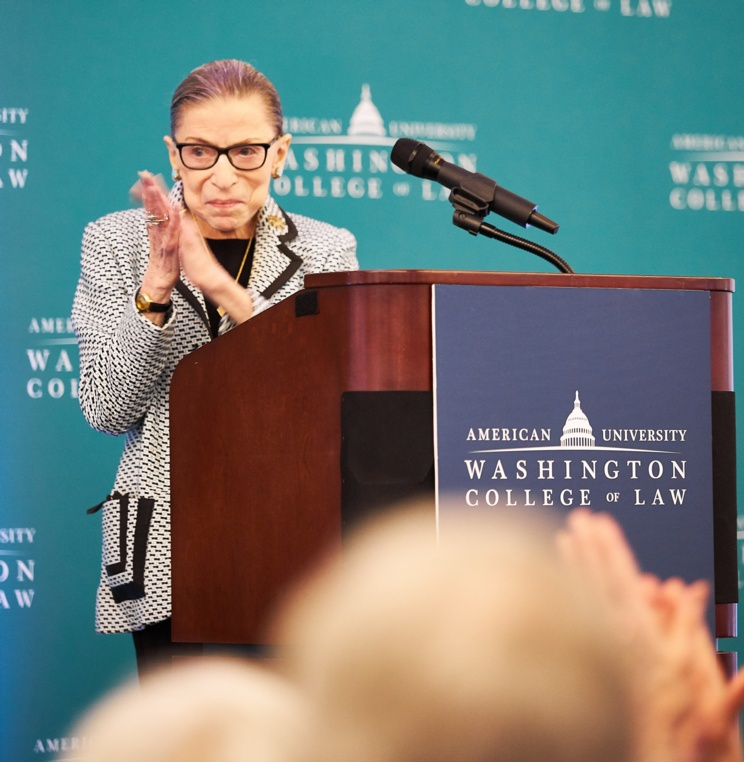 Supreme Court Justice Ruth Bader Ginsburg applauds the legacy of Professor Emeritus Herman Schwartz and his impact on the rule of law.