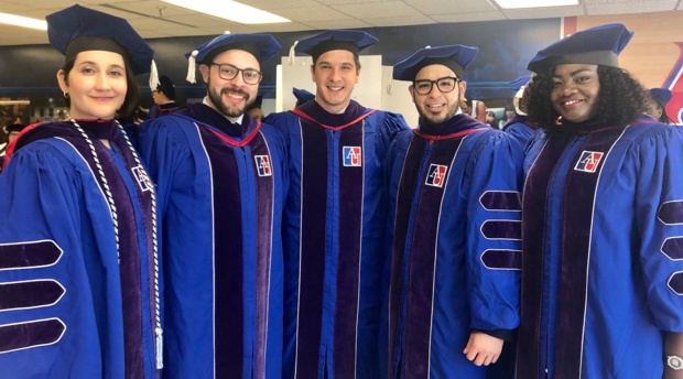 AUWCL graduates at the spring 2019 commencement ceremony.