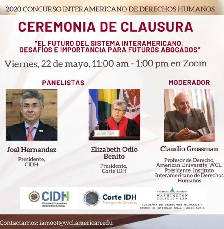 The ceremony's closing panel will be moderated by Professor and Dean Emeritus Claudio Grossman.