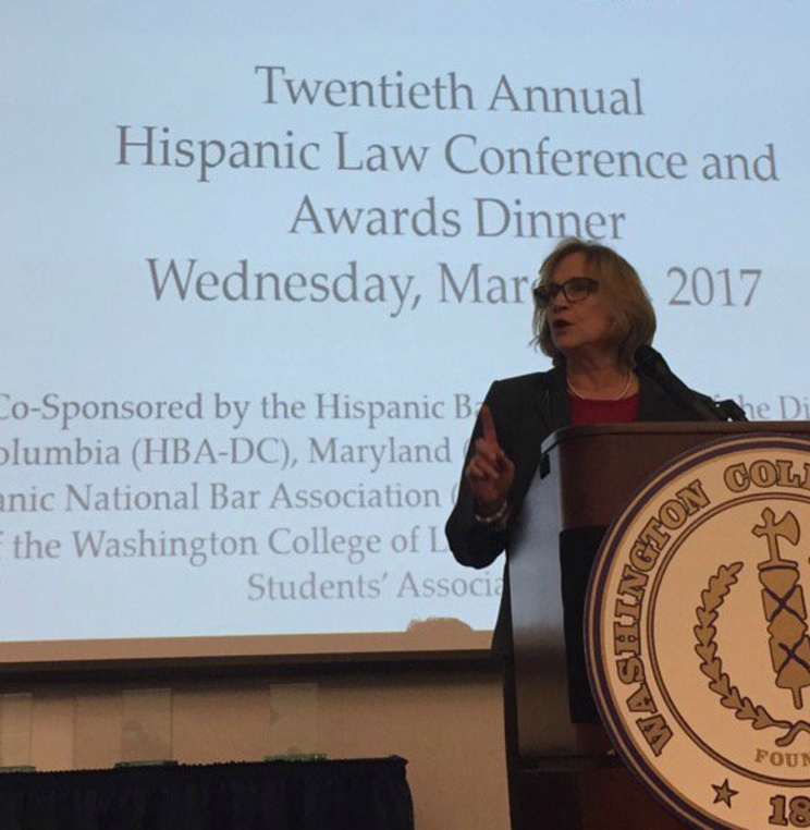 Law Librarian of Congress Jane Sanchez '89 Addresses AUWCL's 20th Annual Hispanic Law Conference