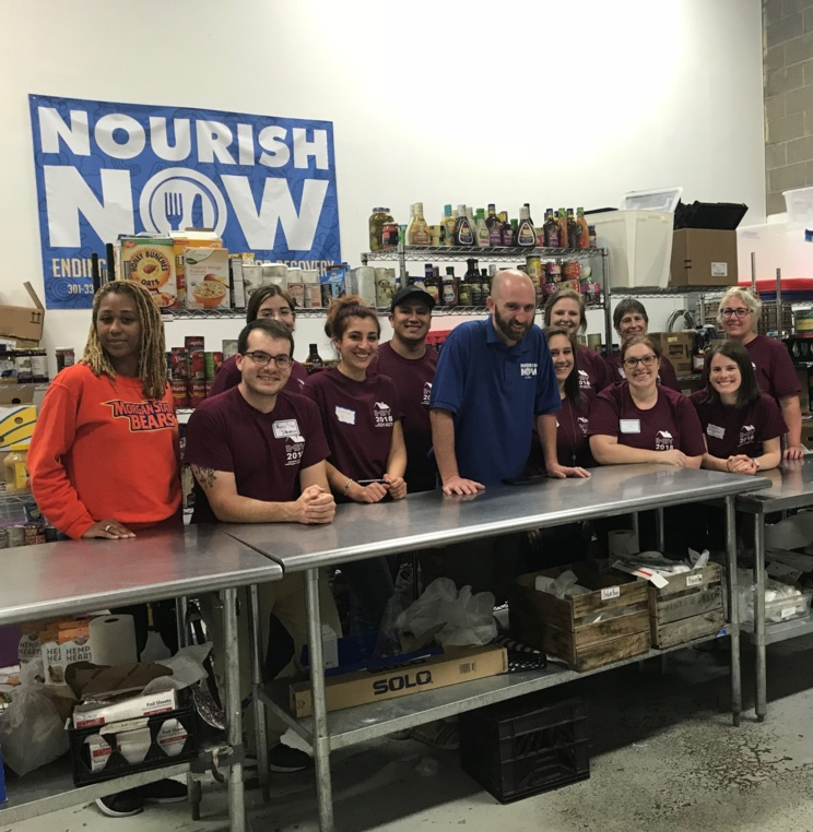Students and staff participating in IMBY at Nourish Now in D.C.