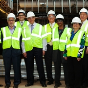 Dean's Advisory Council Tours Construction of Tenley Campus