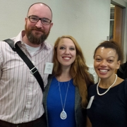 Area alumni with Sarah Stanley (center), Assistant Director of the Office of Student Affairs