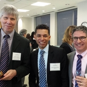 Prof. Jeff Lubbers, Aaron Gleaton Clay '12, and Prof. Ben Leff