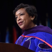 Attorney General Loretta Lynch speaks at AUWCL's 2016 Commencement