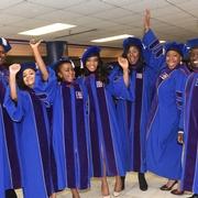 AUWCL graduates celebrating!