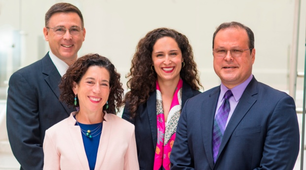 Left to right: Colonel Gary Corn, program director; Professor Jen Daskal, faculty director and TSL founder; Ya'ara Barnoon, assistant director; and Alex Joel, Scholar-in-Residence.