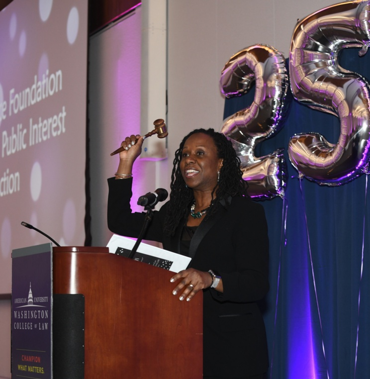 Dean Camille Nelson at the Equal Justice Foundation's 25th Annual Public Interest Auction.