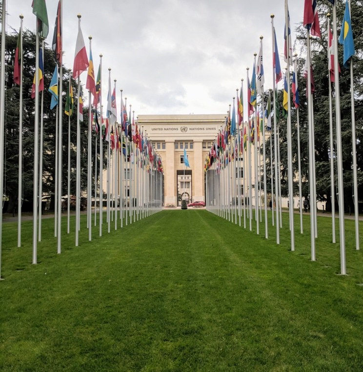 Kovler students touring the Palais de Nations between UN CAT sessions
