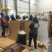 Students and Staff Volunteer at Capital Area Food Bank