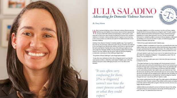 AUWCL Alumna Julia Saladino Featured as D.C. Bar Social Justice Changemaker