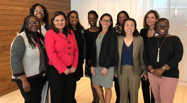 AUWCL Dean Camille Nelson participated in a panel discussion with women deans of color from around the country during NPOC19