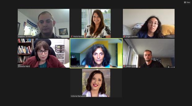 Screenshot of participants