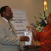 Judge Gerald Bruce Lee '76 and Sherry Weaver (2005).