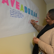 """""""I have a dream..."""" Sherry at the 2013 MLK Celebration."""