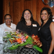 Sherry Weaver with Brooke Sandoval and Trishana Bowden at the 2009 Diversity Reception.