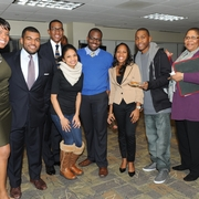 Students, faculty, and staff participate at the 2012 MLK Celebration.