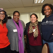 Sherry with students at the 2015 MLK Celebration.