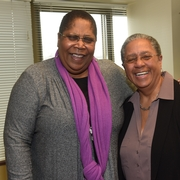 Sherry Weaver and AU Prof. of Theater Caleen Sinnette Jennings at the 2015 MLK Celebration.