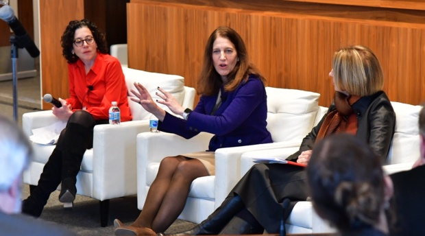 American University President Sylvia Mathews Burwell speaks at the launch of the Free Speech Project, a partnership between TLS and Future Tense.