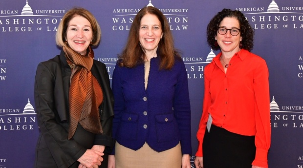 New America CEO Anne-Marie Slaughter, American University President Sylvia Mathews Burwell, and New America CEO Anne-Marie Slaughter, and TLS Director and Professor Jennifer Daskal.