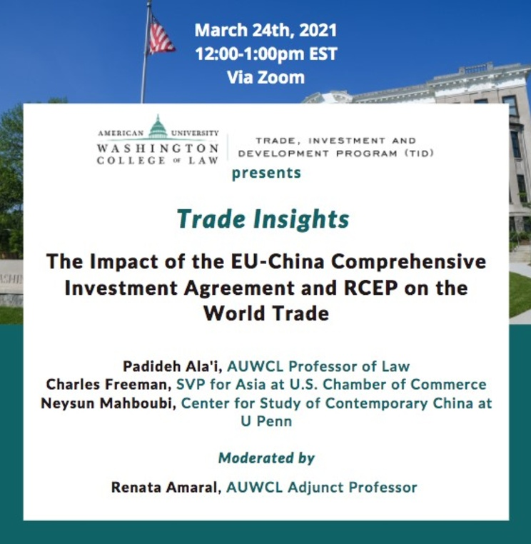 The Impact of the EU-China Comprehensive Investment Agreement and RCEP on the World Trade
